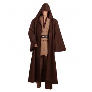 Star Wars Kenobi Jedi Cosplay Disfraz Marrón
