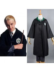 Harry Potter Slytherin Uniforme Draco Malfoy Cosplay Disfraz Versión Para Ninos Adultos