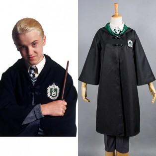 Harry Potter Slytherin Uniforme Draco Malfoy Cosplay Disfraz Versión Para Ninos Adultos